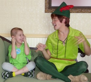 Peter Pan teaching Jaxon to crow!