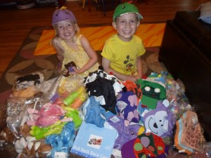 Toys for the hospital that Jaxon purchased with funds he raised.